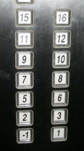 Lift with missing 4th floor